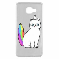 Чехол для Samsung A7 2016 Cat Unicorn