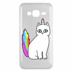 Чехол для Samsung J3 2016 Cat Unicorn