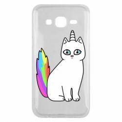 Чехол для Samsung J5 2015 Cat Unicorn