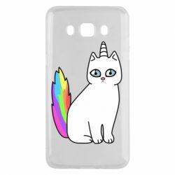 Чехол для Samsung J5 2016 Cat Unicorn