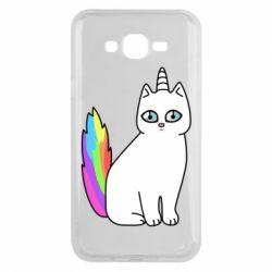 Чехол для Samsung J7 2015 Cat Unicorn