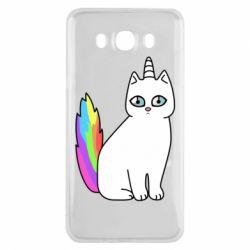 Чехол для Samsung J7 2016 Cat Unicorn