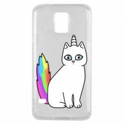 Чехол для Samsung S5 Cat Unicorn
