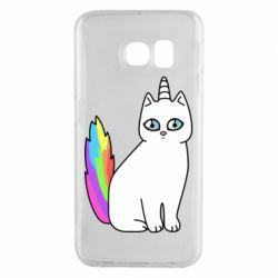 Чехол для Samsung S6 EDGE Cat Unicorn
