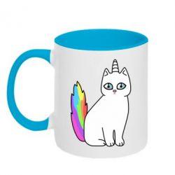 Кружка двухцветная 320ml Cat Unicorn