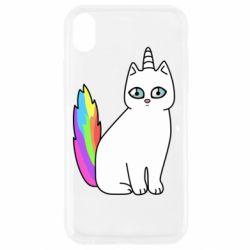 Чехол для iPhone XR Cat Unicorn