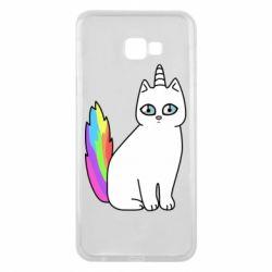 Чехол для Samsung J4 Plus 2018 Cat Unicorn