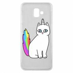 Чехол для Samsung J6 Plus 2018 Cat Unicorn