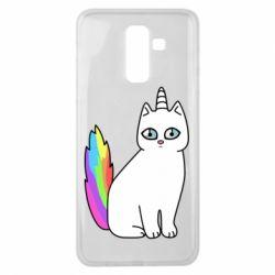 Чехол для Samsung J8 2018 Cat Unicorn