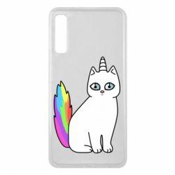 Чехол для Samsung A7 2018 Cat Unicorn