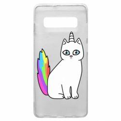 Чехол для Samsung S10+ Cat Unicorn