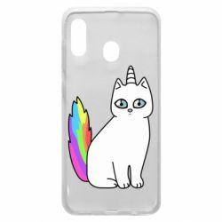 Чехол для Samsung A30 Cat Unicorn