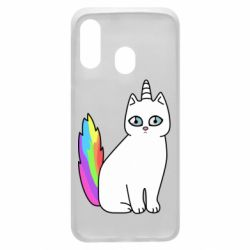 Чехол для Samsung A40 Cat Unicorn