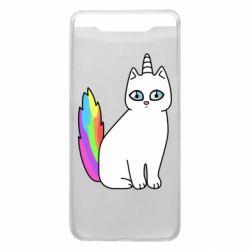 Чехол для Samsung A80 Cat Unicorn