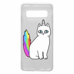 Чехол для Samsung S10 Cat Unicorn