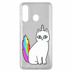 Чехол для Samsung M40 Cat Unicorn