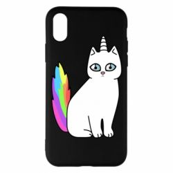 Чехол для iPhone X/Xs Cat Unicorn