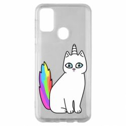 Чехол для Samsung M30s Cat Unicorn