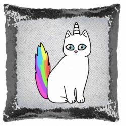 Подушка-хамелеон Cat Unicorn
