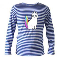 Тельняшка с длинным рукавом Cat Unicorn