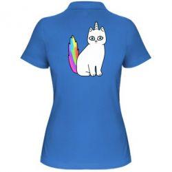 Женская футболка поло Cat Unicorn