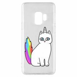 Чехол для Samsung S9 Cat Unicorn