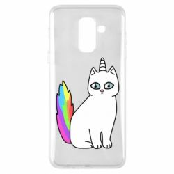 Чехол для Samsung A6+ 2018 Cat Unicorn