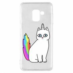 Чехол для Samsung A8 2018 Cat Unicorn
