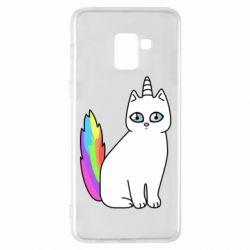 Чехол для Samsung A8+ 2018 Cat Unicorn