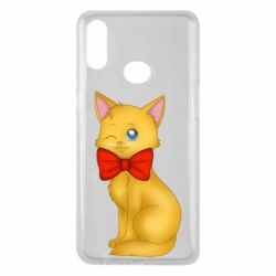 Чохол для Samsung A10s Cat with a bow