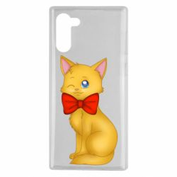 Чохол для Samsung Note 10 Cat with a bow