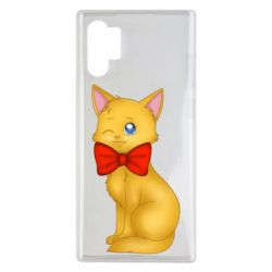 Чохол для Samsung Note 10 Plus Cat with a bow