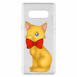 Чохол для Samsung Note 8 Cat with a bow