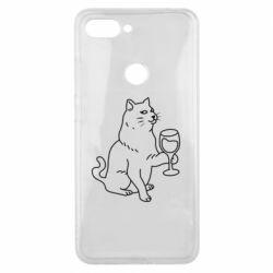 Чохол для Xiaomi Mi8 Lite Cat with a glass of wine