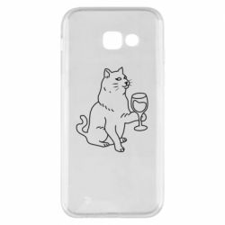 Чохол для Samsung A5 2017 Cat with a glass of wine