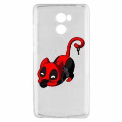 Чехол для Xiaomi Redmi 4 Cat with a grenade