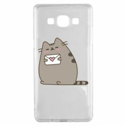 Чохол для Samsung A5 2015 Cat with a letter