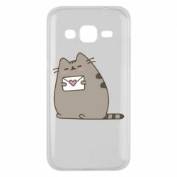 Чохол для Samsung J2 2015 Cat with a letter