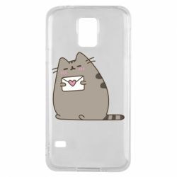 Чохол для Samsung S5 Cat with a letter
