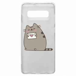 Чохол для Samsung S10+ Cat with a letter