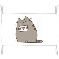 Флаг Cat with a letter
