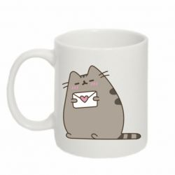 Кружка 320ml Cat with a letter