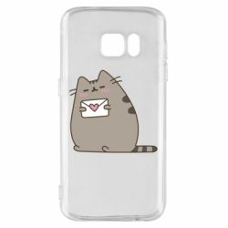 Чохол для Samsung S7 Cat with a letter