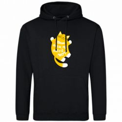 Мужская толстовка Cat with a quote on the stomach