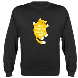 Реглан (свитшот) Cat with a quote on the stomach