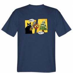 Мужская футболка Cat with a saw