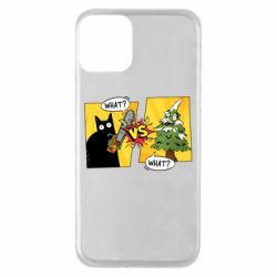 Чехол для iPhone 11 Cat with a saw