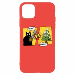 Чехол для iPhone 11 Pro Max Cat with a saw
