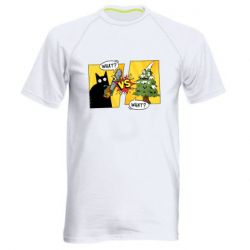 Мужская спортивная футболка Cat with a saw