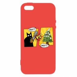 Чехол для iPhone5/5S/SE Cat with a saw